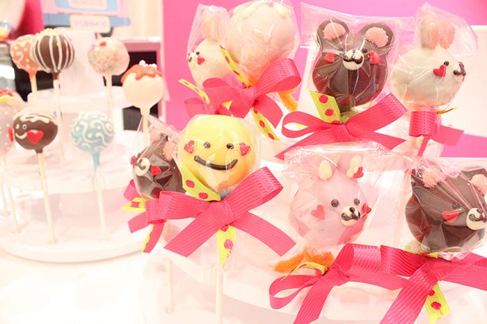 動物をデコレーションしたケーキポップ(280円~)