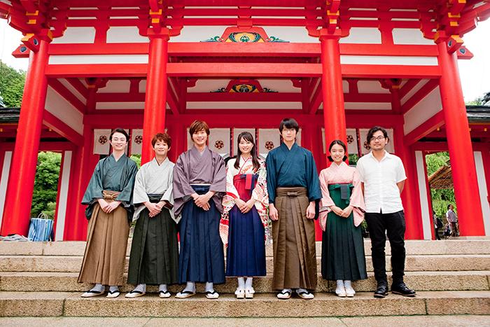 競技かるたの聖地「近江神宮」で行われた映画『ちはやふる』の会見(2015年)