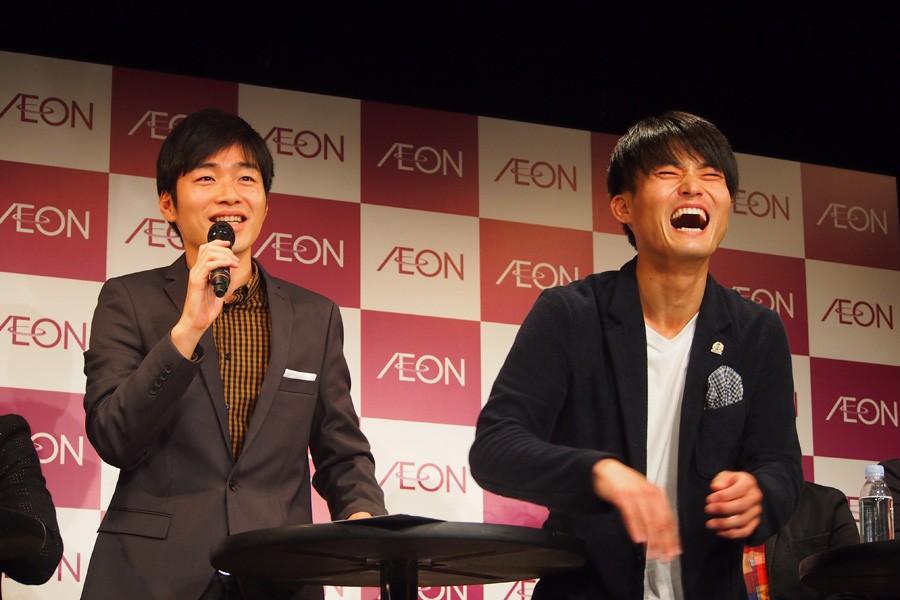 後藤淳平(左)と福徳秀介(右)