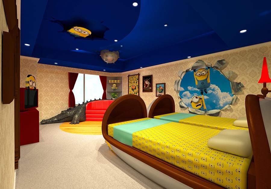 部屋の鍵もミニオンのスペシャルデザインに。ミニオン尽くしを楽しむことができる
