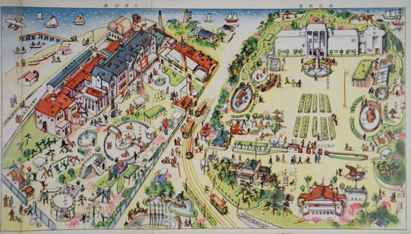勧業博覧会(1903年)跡地に建設された大濱潮湯は食堂や遊技場などのある複合レジャー施設だった