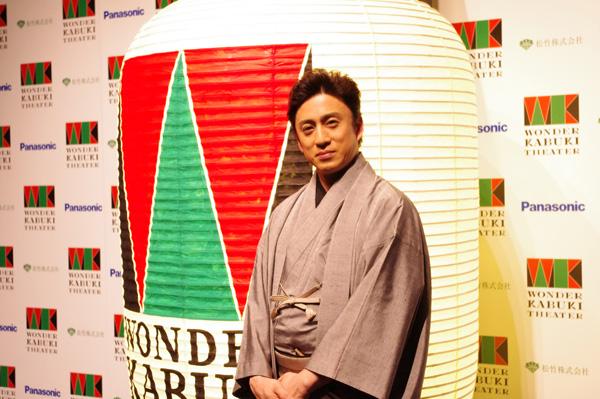 凱旋記念イベントに登場した市川染五郎