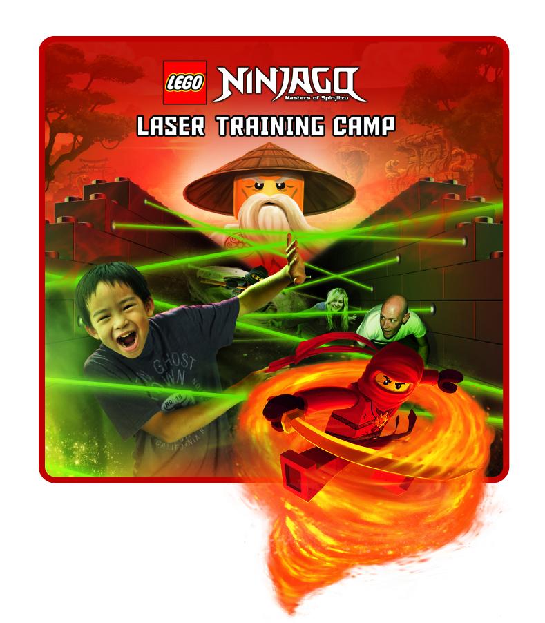 「レゴ ニンジャゴー」はレーザーにあたらないように進んでいく