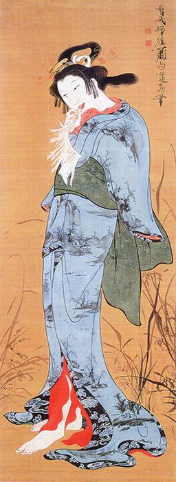 曾我蕭白《美人図》※前期展示 奈良県立美術館蔵