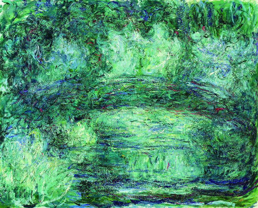 クロード・モネ 《日本の橋》 1918-19年 Musée Marmottan Monet, Paris © Bridgeman-Giraudon