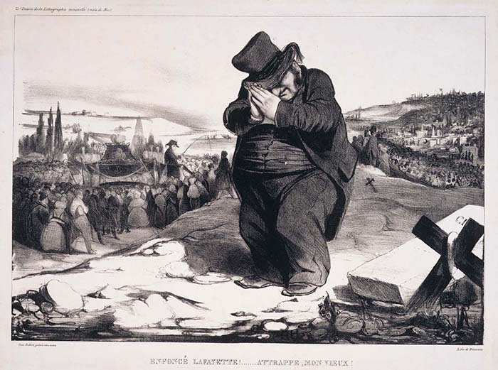 オノレ・ドーミエ《くたばったなラファイエット!・・・ざまあ見ろ!》1834年 伊丹市立美術館