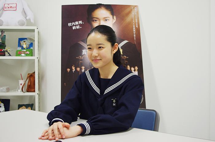 インタビューに答える姿も初々しく清楚な藤野涼子