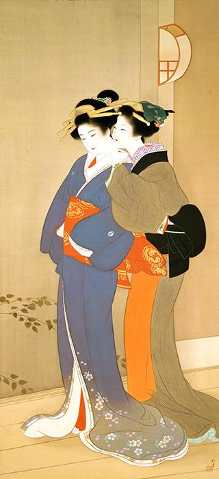 上村松園《春宵》※後期展示 奈良県立美術館蔵