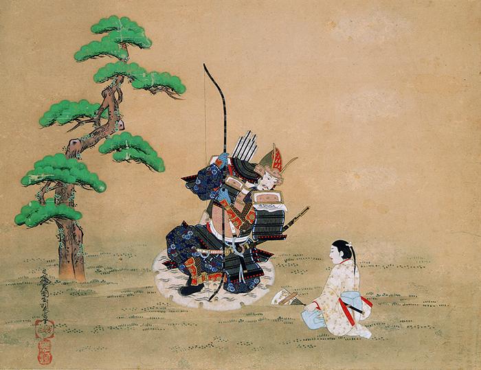 菱川師宣《楠公父子訣別図》奈良県立美術館蔵