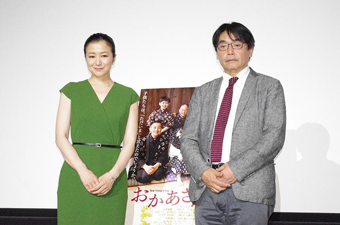 「大阪の舞台挨拶が苦手」とは磯村一路監督(右)