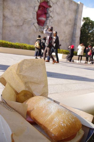 サシャが盗んだハムで作ったサンド&芋