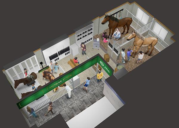 馬の生態をリアルな馬のロボットを通じて学ぶことができる