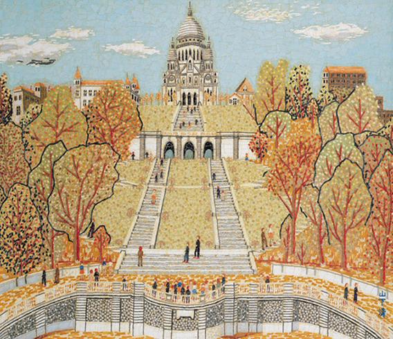 パリのサクレクール寺院(貼絵) © 清美社