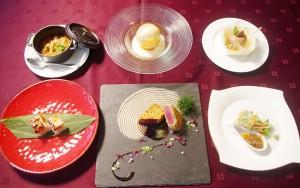 受賞作品、奥中央が総合優勝「美感~BIKAN」(ドリンク付で1,800円・1日20食)