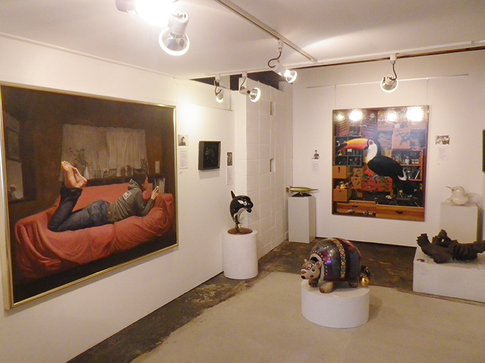 個性的な展示スペース