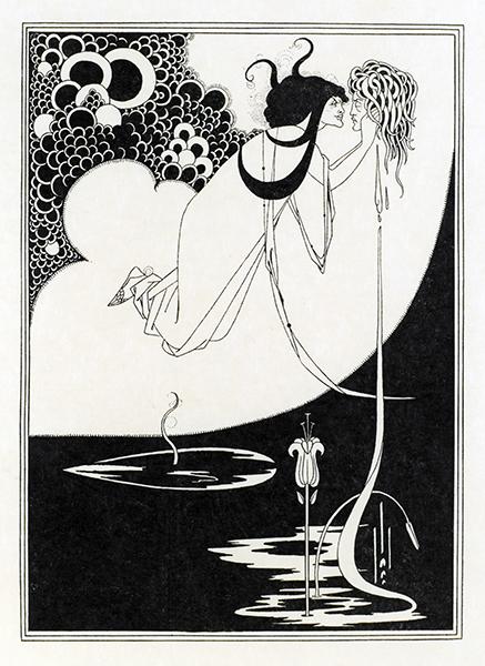 オーブリー・ビアズリー「クライマックス」『ビアズリーによるオスカー・ワイルド著「サロメ」の挿画のためのドローイング集』より 個人蔵