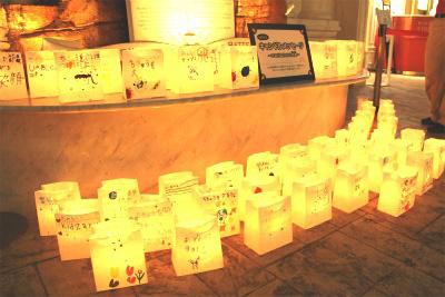 「キッザニア甲子園」、100人のキャンドルメッセージ(イメージ)