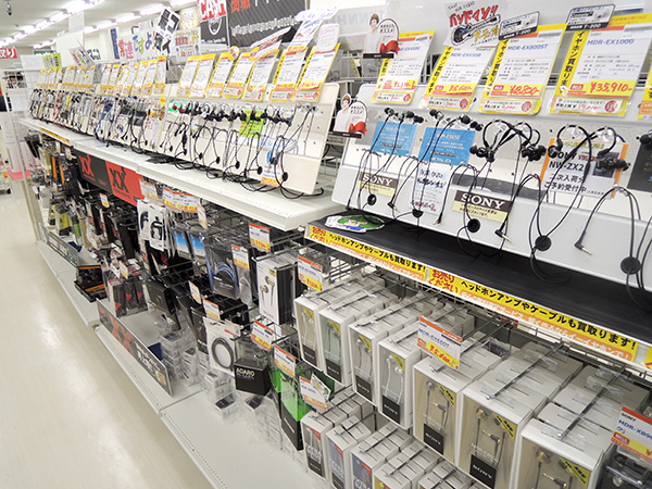 イヤホンやヘッドフォン、取り扱いアイテム数約2万点という充実感