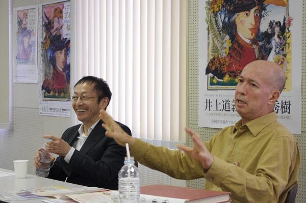演出について熱く語る井上&野田