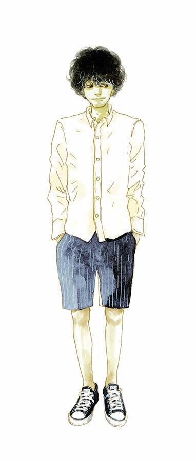 『潔く柔く』に登場する古屋寿(イラスト)、梶間洋希、『太陽が見ている(かもしれないから)』廣瀬楡のチョコも
