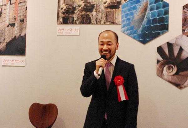 会見に出席した漫画家、井上雄彦