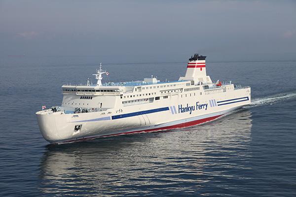 阪神エリアと北九州を結ぶ阪九フェリーの新造船「いずみ」