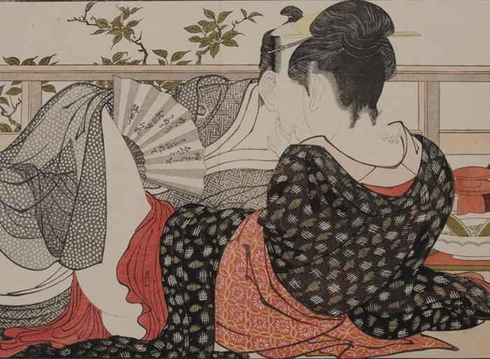 喜多川歌麿「歌まくら」(部分) 浦上満氏蔵