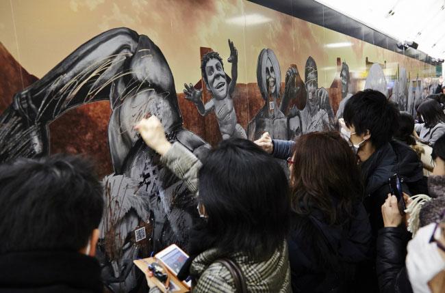 東京・新宿で行われた巨人駆逐イベントの様子