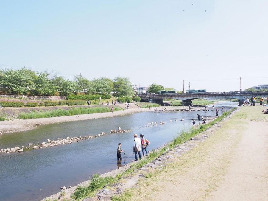 京都を南北に流れる鴨川