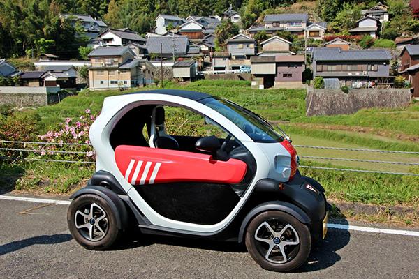 CO²の排出ゼロの環境にやさしい電気自動車