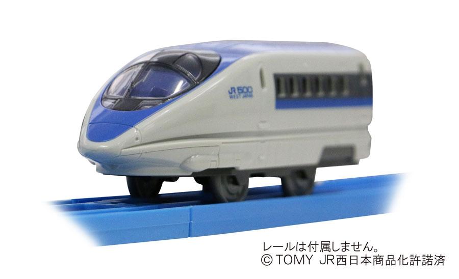 そのデザイン性の高さから、エヴァ新幹線「500 TYPE EVA」にもなった500系