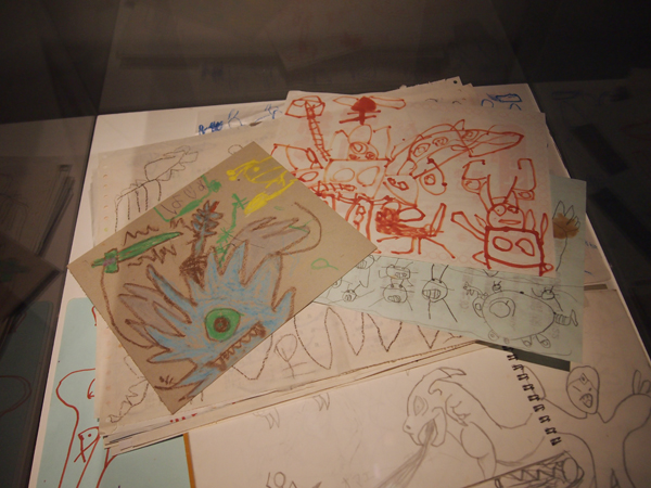 幼少期の諫山先生が描いたイラストも