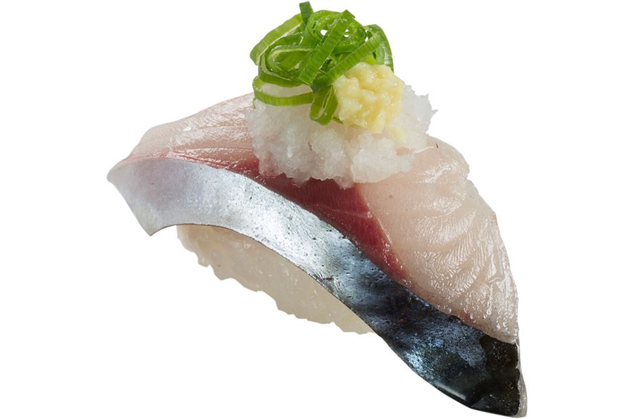 関西店舗限定で食べられる寿司「境港産 活〆生さば」180円(税抜)