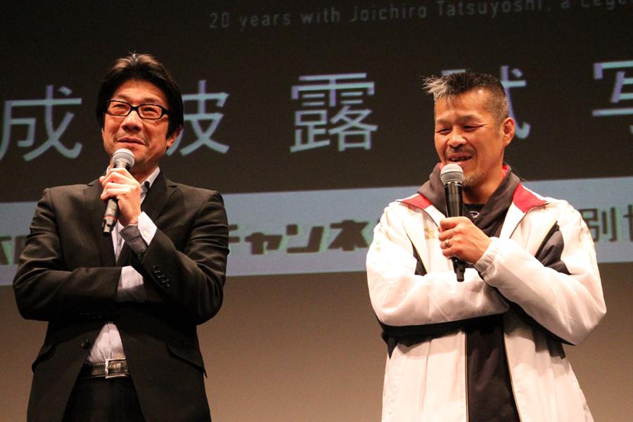 阪本順治監督(左)と辰吉丈一郎
