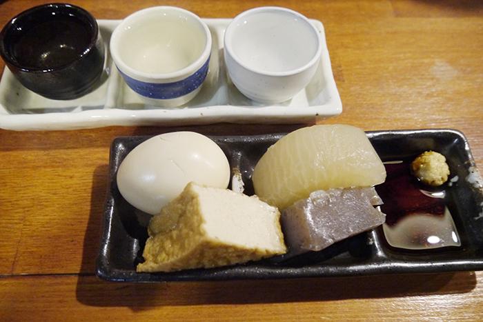 「味都」の姫路おでんと姫路のお酒もセットで1,000円
