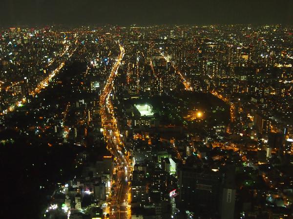 展望台「ハルカス300」での夜景の美しさは格別