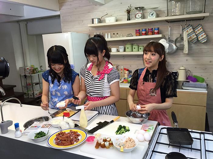 3人でお弁当作りに挑戦