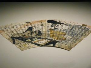 国宝 扇面法華経冊子 巻一・観普賢経 紙本著色 平安時代後期 12世紀 四天王寺