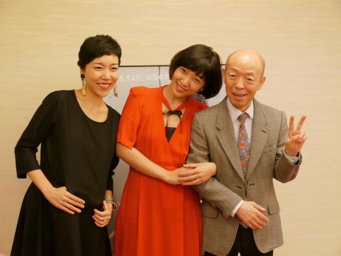 映画「0.5ミリ」の監督安藤桃子、主演の安藤サクラと共演の坂田利夫