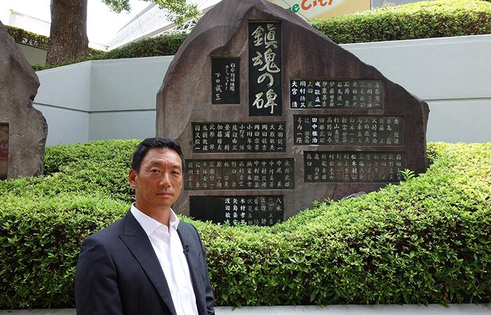 関西テレビで放送される「戦火に散った野球人~幻のミスタータイガース~」のナビゲートに挑戦した金本知憲さん