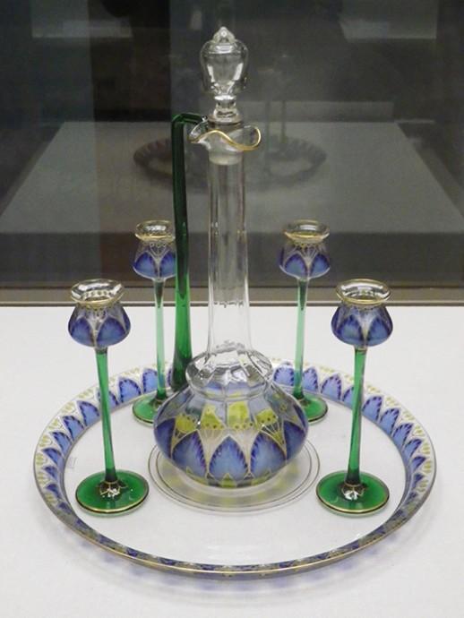 酒器セット 1900年以降 マイヤーズ・ネッフェ・ガラス工場、シュマヴァ・アドルフォフ(製作)