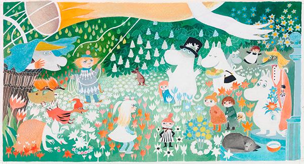 トーベ・ヤンソン《絵本「ムーミン谷へのふしぎな旅」挿絵》1977年 タンペレ市立美術館ムーミン谷博物館蔵 © Moomin Characters ™