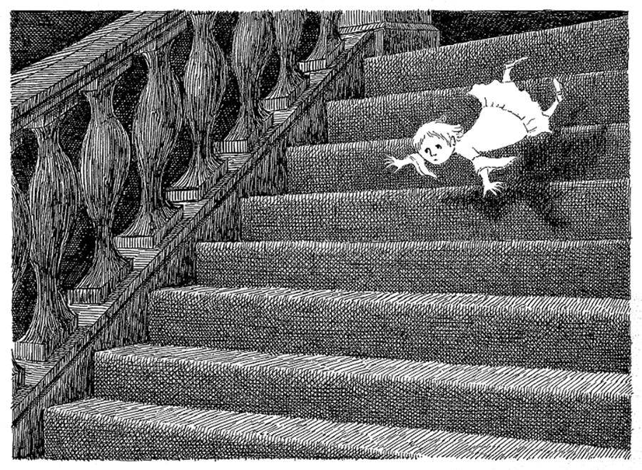 『ギャシュリークラムのちびっ子たち』原画,1963年 ©2010 The Edward Gorey Charitable Trust