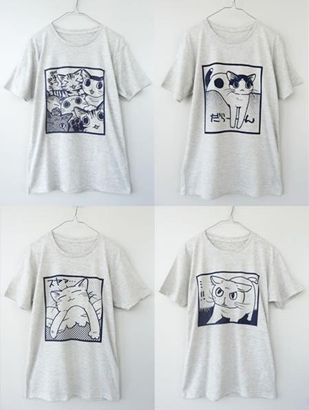 猫好き猛アピールTシャツ