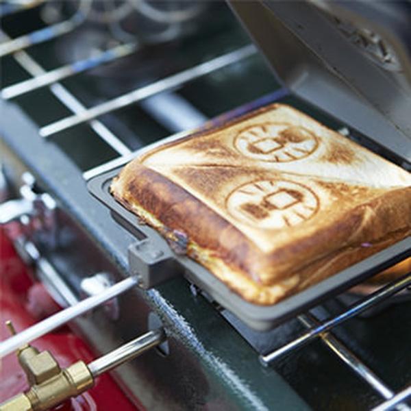 ランタンの焼き印が可愛いホットサンド