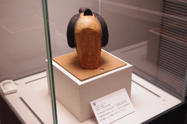 現存する唯一の初世鴈治郎のカツラ