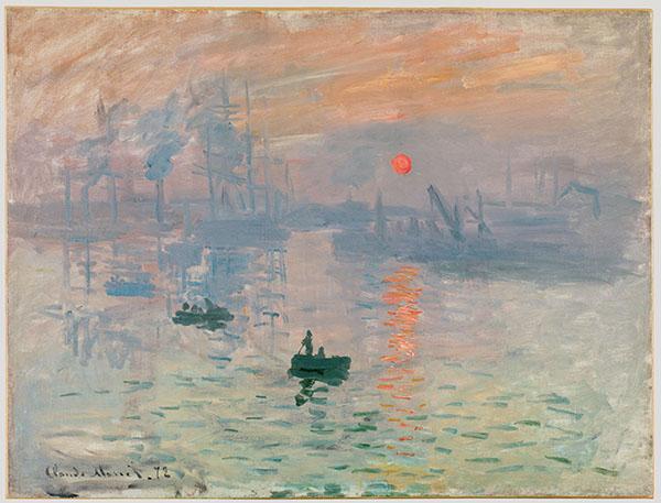 クロード・モネ《印象、日の出》1872年  Musée Marmottan Monet, Paris ©Christian Baraja  展示期間 2016年3月1日〜21日