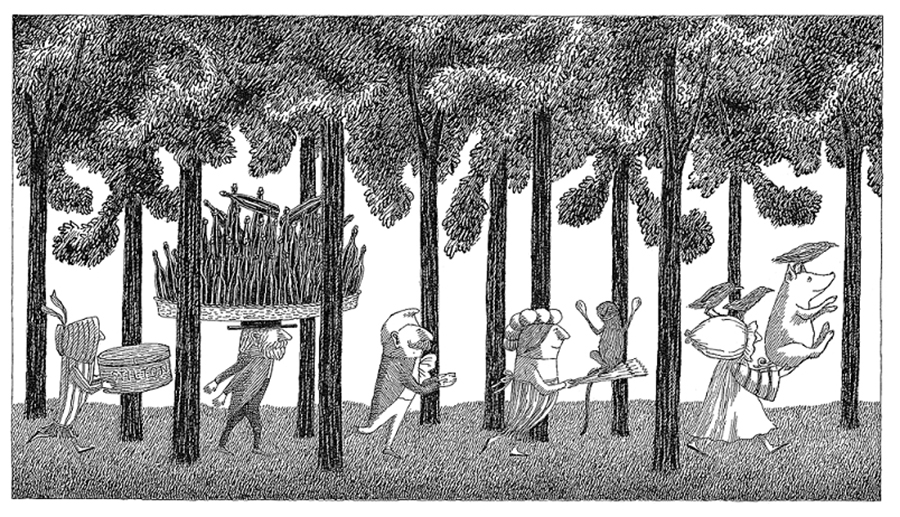 『ジャンブリーズ』原画,1968年 ©2010 The Edward Gorey Charitable Trust