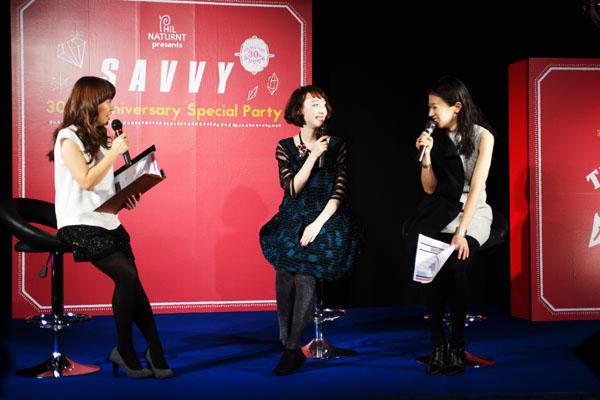 FM802の加藤真樹子さんをMCに、モデルのチェルシー舞花ちゃんと水嶋編集長のトークショー