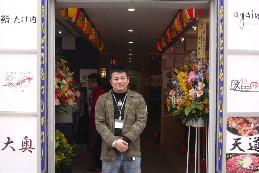 屋台村を企画立案した山下翔太さん。食べ歩き好きが高じて自らも飲食の世界に